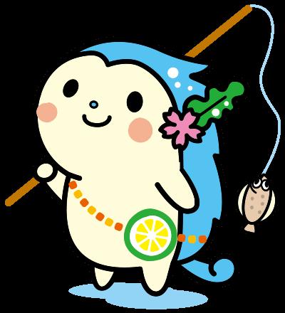 上島町商工会公認キャラクター「かみりん」